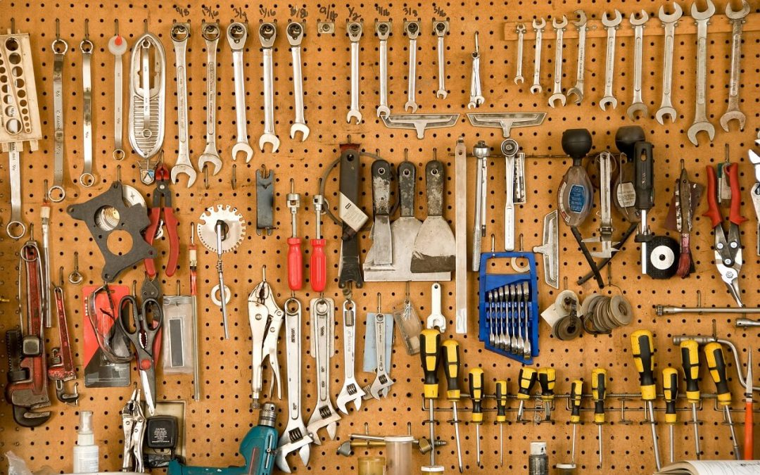 organize your garage with pegboard