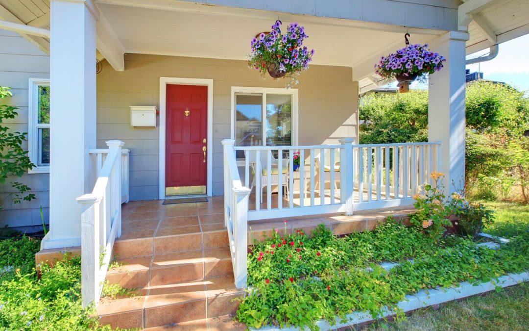 weekend home improvement includes painting your front door